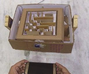 Smartphone Accelerometer Controlled Cardboard Maze