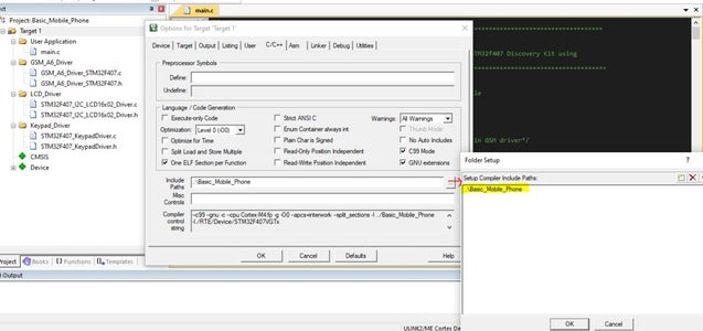 Configure the Path of the Header Files