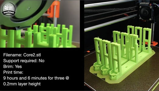 Print the Core Supports