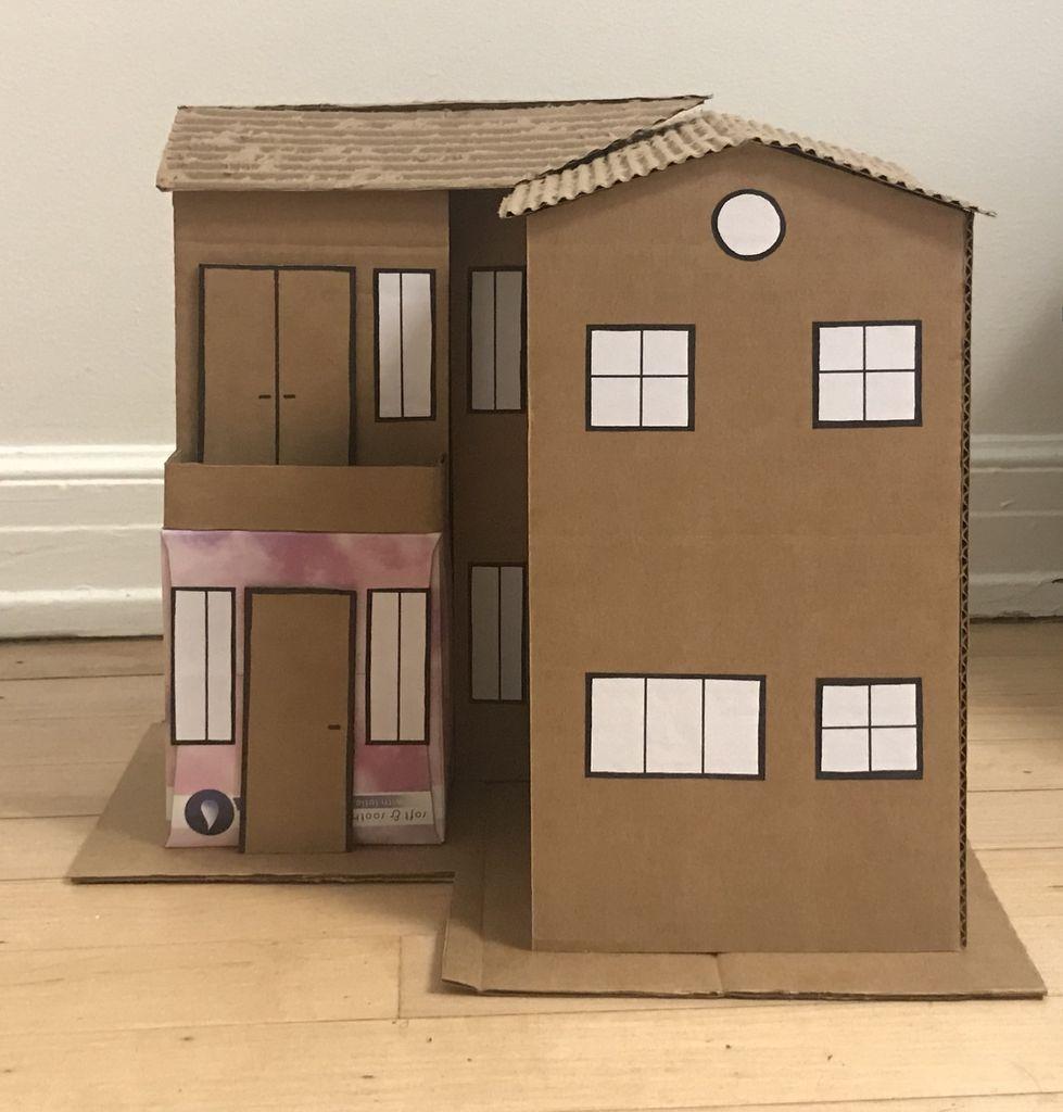 Build A Model Cardboard House 10 Steps