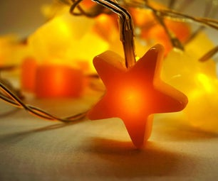 DIY Star Fairy Lights With Hot Glue