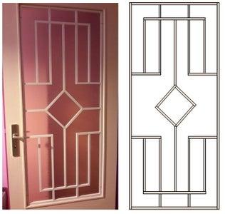 Decorative Panel for Glazed Door