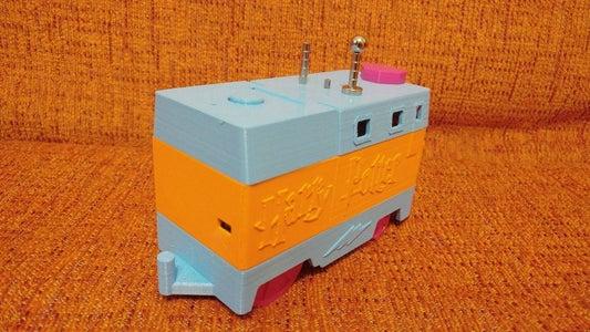 """Locomotora """"Sofia"""" Controlada Por Infrarojos, Con Control De Velocidad Por Ultrasonidos Y Motor Superior Multiusos (Lego Duplo)"""