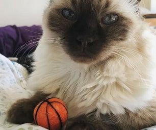 Pocket Sized Felted Basketball