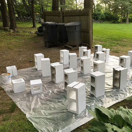Picture of Prime the Cinder Block Planters: