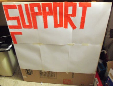 Use Duct Tape for Lettering