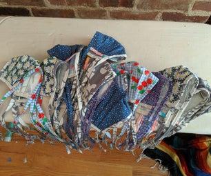 在家制作许多织物口罩