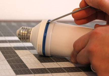 Disassembling the LED Flame Bulbs (A)