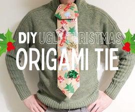 Christmas Origami Tie