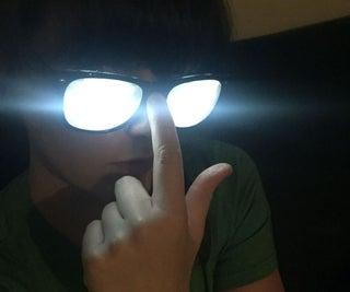 Glowing Comic/Anime Character Glasses