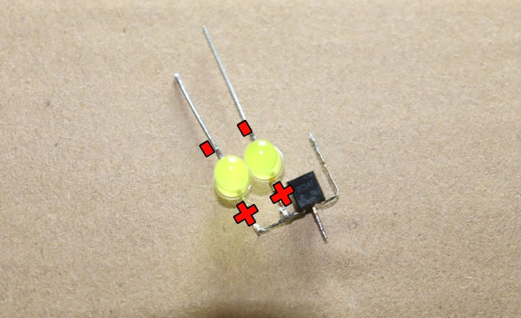 Picture of Connect Yellow LED to Transistor
