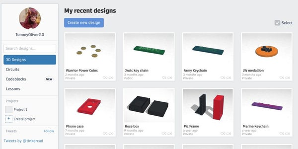 Create/ Log in to Tinker Cad