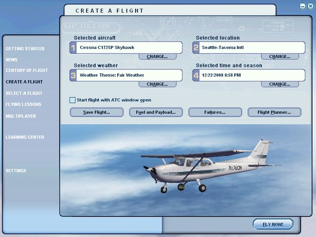 Setting Up Your Flight