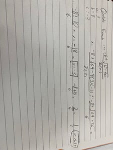 First Way to Find the X-intercepts (Roots, Solutions, Zeros): the Quadratic Formula