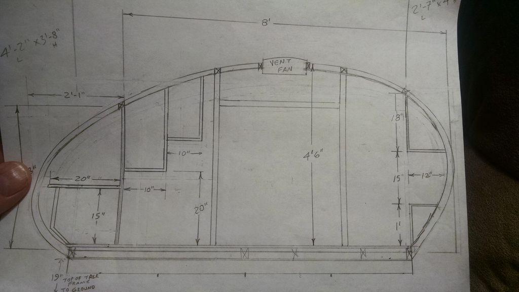 Picture of Home-built Teardrop Camper