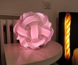 WebApp Puzzle LED Lamp With ESP32