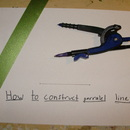 How to Construct Two Parallel  Lines
