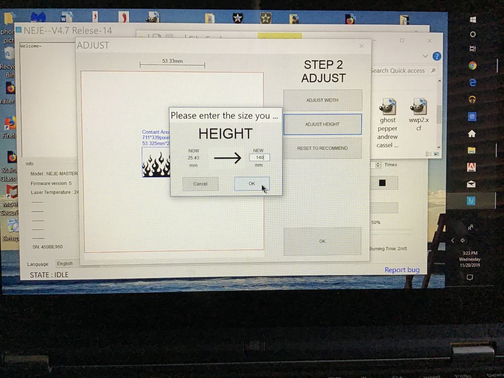 Picture of Adjusting the Size of Your Image.
