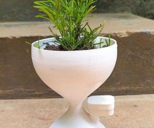 沙时钟自行浇水室内花盆