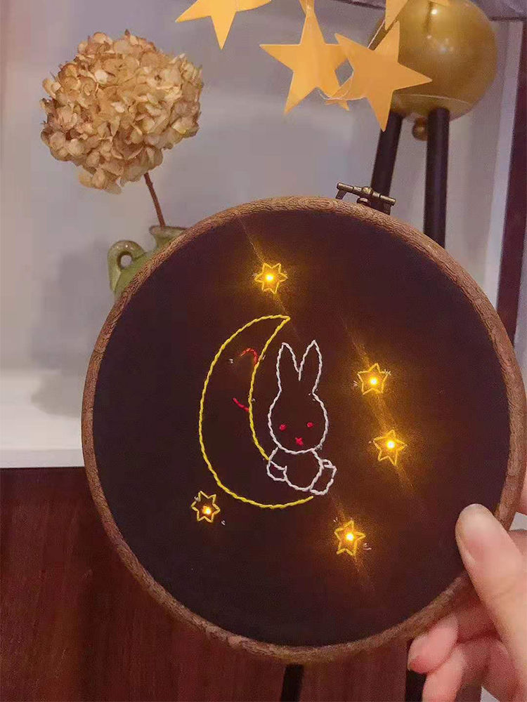 Picture of Handmade Lilypad Electronic Embroidery