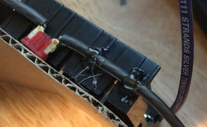 Add 10A Fuse to the Negative Wire Then Hot Glue in Place