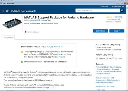 Arduino Interfacing With Matlab