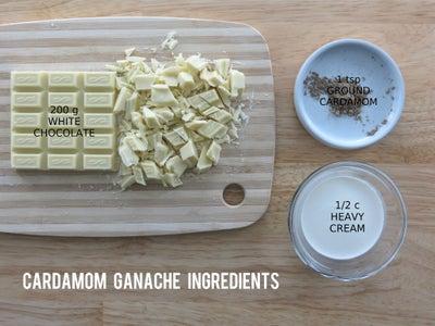 Cardamom White Chocolate Ganache Filling