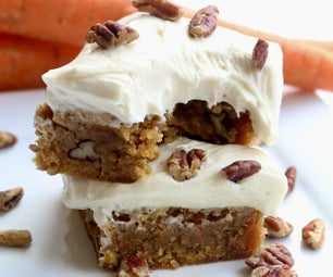 Frosted Carrot Cake Blondies Recipe
