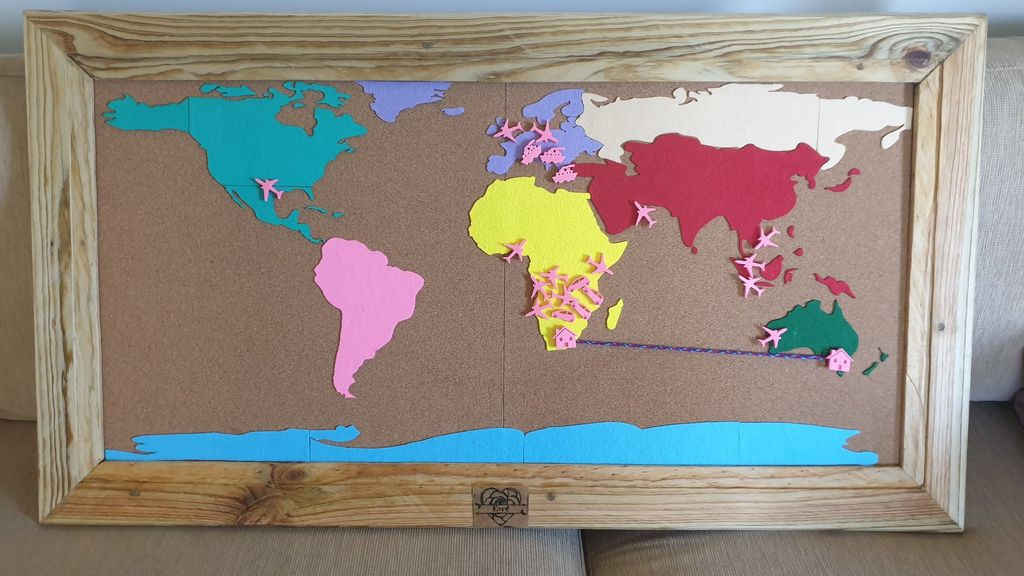 Picture of Travel Pin Map
