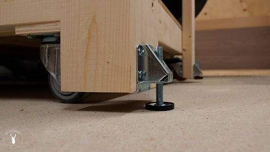 Install Casters & Leveling Feet
