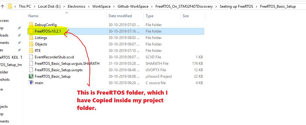 Image of Copy FreeRTOS in your project folder