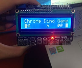 The Chrom Dino Game on LCD Shield