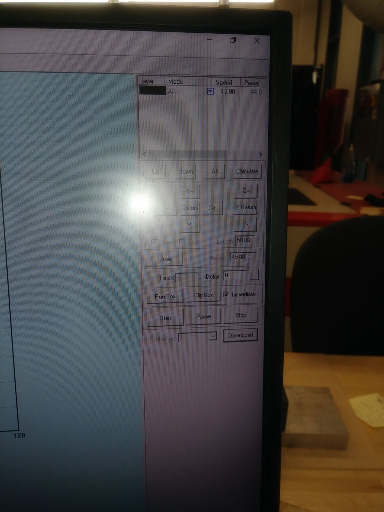 Picture of Step:3 Create Setting for Lazar Cutter