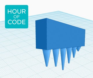 Designing Icicles With Codeblocks in Tinkercad
