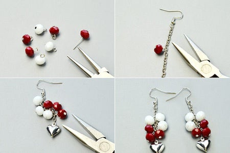 Instructions on How to Make the Earrings: