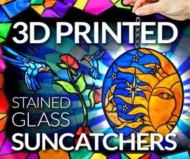 3D打印彩色玻璃效果日光捕手
