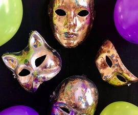 Mardi Gras Gilded Masks