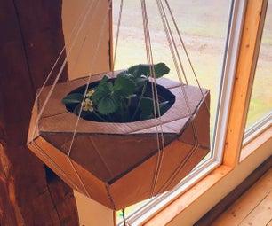 几何,五角播种机由纸板和塑料瓶