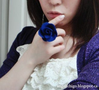 DIY: Felt Rose Ring { Tutorial }