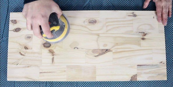 Cut, Sand, and Stain Wood for Shelves