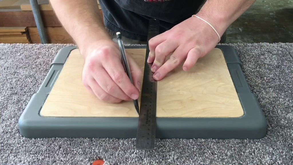 Picture of Attaching the Drilling Template