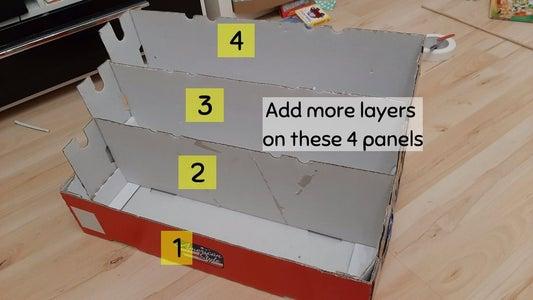 Adding the Shelves on the Base