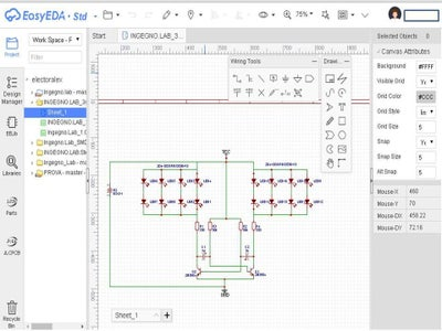 Registration a EasyEDA and Circuit Design