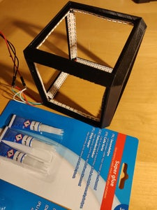 Gluing the LEDs to the Frame