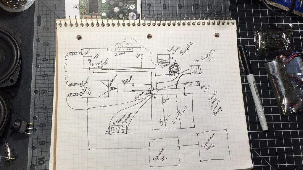 Picture of Create a Circuit/Pictorial to Follow When Building Your Bluetooth Speaker