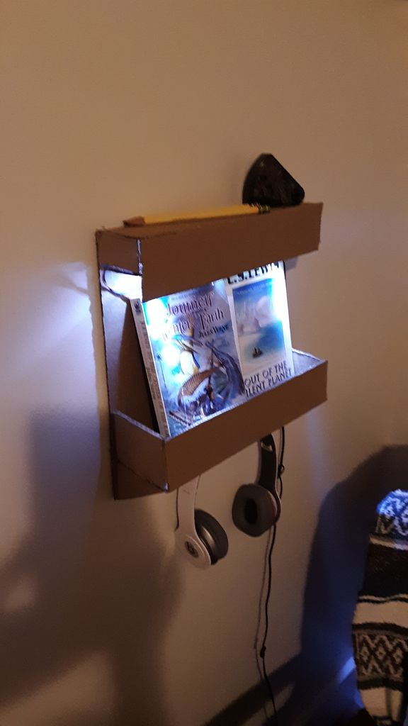 Picture of Lighted Wall Organizer/Bookshelf