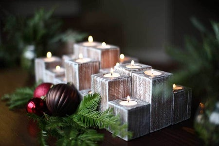 Stain and Paint Candle Holders