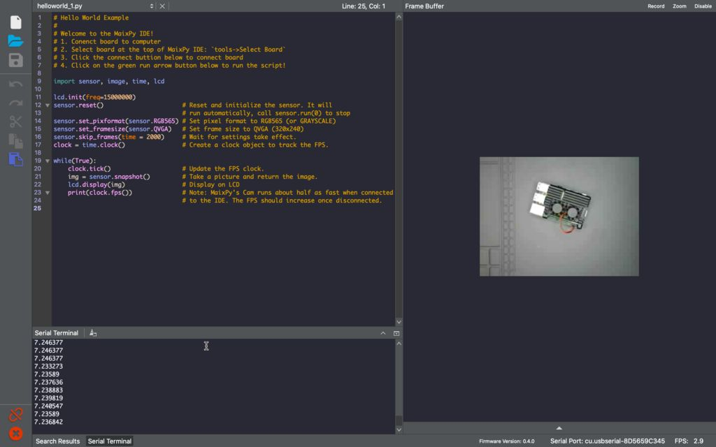 Picture of MaixPy IDE