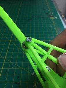 Connecting the Completed Arm and CW to the Frame