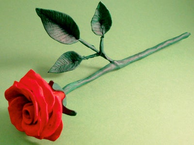 How to Make a Rose From Airdry Dough